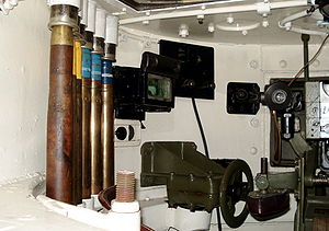 T-26 - Interior of T-26 mod. 1933 turret. Ammunition stowage is on the left side. The side observation device is visible, as is the revolver porthole, which is closed with a plug. Parola Tank Museum in Finland.