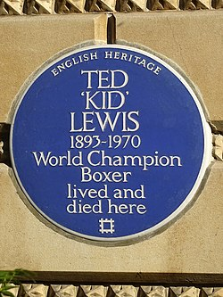 Photo of Ted Lewis blue plaque