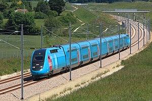 LGV Bretagne-Pays de la Loire - Ouigo TGV on the line.