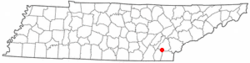 Location of Calhoun, Tennessee