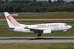 TS-IOM Boeing 737-600 Tunisair DUS 2018-09-01 (4a) (44659271114).jpg