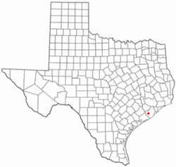 Location of West Columbia, Texas