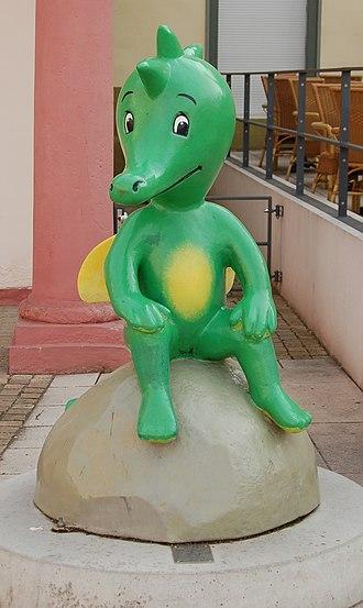 Tabaluga - Statue of Tabaluga in Erfurt; Germany