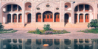 Kashan - Tabatabaeis House, early 1800s, Kashan. A fine example of traditional Persian architecture.