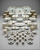 Beau 1785 90 Chinese Set Of Tableware For The American Market