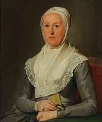Portret van Eva van der Geer (1724-?)