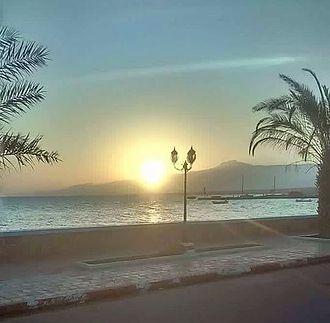 Tadjoura - Tadjoura beach at sunset.