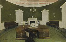 the oval office. Taft Oval Office, Completed 1909. Nearly Identical In Size To The Modern It Was Damaged By Fire 1929 And Demolished 1933. Office I