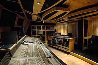Post-production - A sound control room at Tainted Blue Studios, 2010