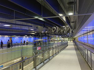 Taipei MRT Dingpu Station Concourse Level.JPG