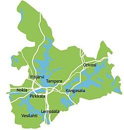 Tampereen Kaupunkiseutu Wikipedia