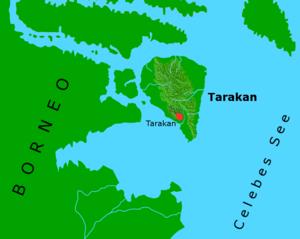 Tarakan Island - Location map of Tarakan