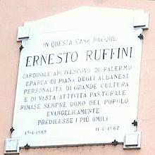 Targa in memoria di Ernesto Ruffini