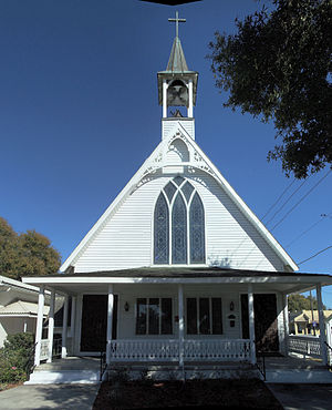Tavares, Florida - Union Congregational Church in Tavares. Organized in 1885, and completed in 1888 on land donated by St. Clair-Abrams, this was the first church in Tavares.
