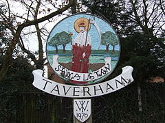Village sign, Taverham