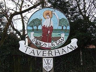 Taverham - Image: Taverham sign