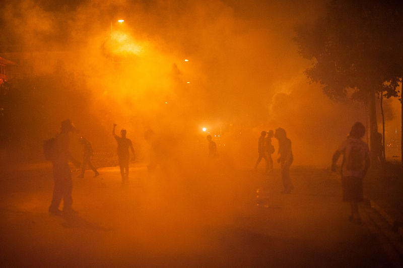 File:Teargass action during Gezi park protests. Events of June 15, 2013.jpg