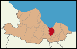 Tekkeköy District Location in Samsun Province.png