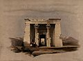 Temple of Dandour, Egypt. Coloured lithograph by Louis Haghe Wellcome V0049343.jpg