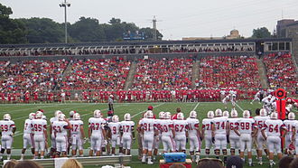 Leonidoff Field - View of Tenney Stadium from the lawn seating during a football game