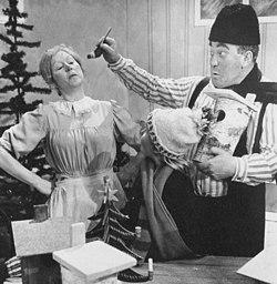 Birgitta Andersson og Carl-Gustaf Lindstedt i Tommelisen, 1967 julekalenderen i TV.
