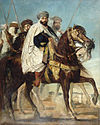 Théodore Chassériau - Ali-Ben-Hamet, Caliph of Constantinople and Chief of the Haractas, Followed by his Escort.JPG