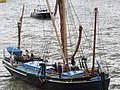 Thames barge parade - through Tower Bridge into the Pool - Gladys 6688.JPG