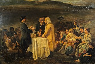 George Harvey (painter) - The Covenanters' Communion - National Galleries of Scotland