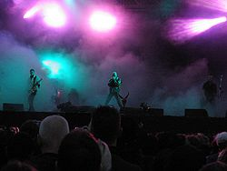 The Sisters of Mercy beim M'era Luna Festival 2005 (in der Besetzung Eldritch-Pearson-Catalyst)