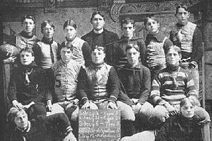 Thomas Hazzard - The 1899 Sidney High football team coached by Hazzard