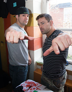 The American Wolves - Eddie Edwards (left) and Davey Richards (right)