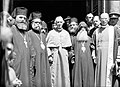 The Bishop of Canterbury, Dr. Lang. At the Church of the Holy Sepulchre with Greek and Armenian priests.jpg