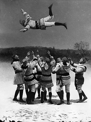 """Montreal Snow Shoe Club - Lord Stanley of Preston being """"bounced"""" as a member of the MSSC in 1886"""
