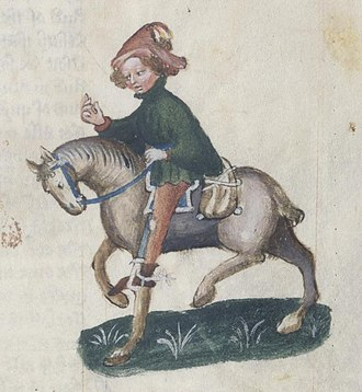 Yeoman - The Canon's Yeoman - Ellesmere Manuscript, The Canterbury Tales