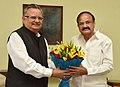 The Chief Minister of Chhattisgarh, Dr. Raman Singh calling on the Vice President, Shri M. Venkaiah Naidu, in New Delhi on August 11, 2017.jpg