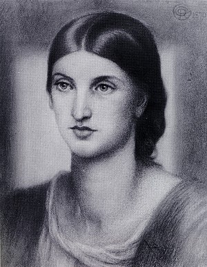 Rosalind Howard, Countess of Carlisle - Portrait of Howard made on 25 June 1870 by Dante Gabriel Rossetti and currently owned by her great-great-grandson George Howard, 13th Earl of Carlisle