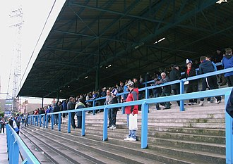 Saltergate - The Kop, filling early for the farewell game, May 2010