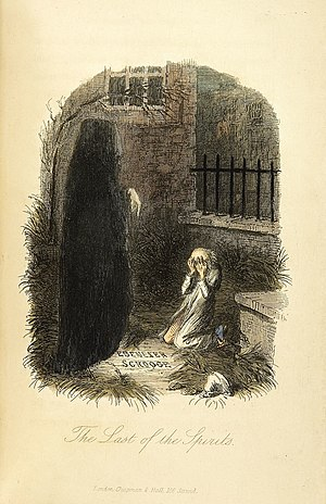 Ghost of Christmas Yet to Come - Image: The Last of the Spirits John Leech, 1843