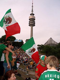 A number of Mexican fans making their way around Munich.