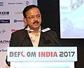 The Minister of State for Defence, Dr. Subhash Ramrao Bhamre delivering the inaugural address at the DEFCOM INDIA 2017, in New Delhi on March 23, 2017.jpg