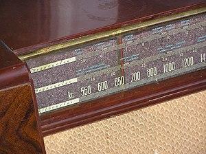 Classic radio receiver dial