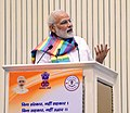 The Prime Minister, Shri Narendra Modi addressing the gathering at Sahkar Sammelan, on the occasion of birth centenary of Laxmanrao Inamdar, in New Delhi on September 21, 2017.jpg