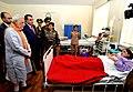 The Prime Minister, Shri Narendra Modi visiting the India-Tajik Friendship Hospital, in Quarghan Teppa, Dushanbe, Tajikistan on July 13, 2015. The President of Tajikistan, Mr. Emomali Rahmon is also seen (2).jpg
