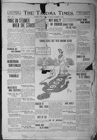 The Tacoma Times - Image: The Tacoma Times, volume 1, number 1, front page (December 21, 1903)