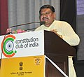 """The Union Minister for Tribal Affairs, Shri Jual Oram addressing the gathering at the """"Allotment of petrol pumps to SC, ST and Women LoI holders"""", in New Delhi on July 19, 2017.jpg"""