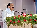 The Vice President, Shri M. Venkaiah Naidu addressing the Scientists, Scholars, Farm Experts and Farmers, at the Central Research Institute for Dryland Agriculture (CRIDA), in Hyderabad on July 03, 2018.JPG