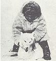 The Wolves of North America (1944) Inuit hunter & Wolf.jpg