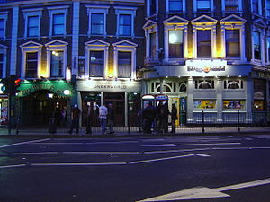 The World's End, Camden - The World's End in the evening, located next door to the Underworld Club