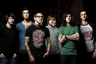 The Devil Wears Prada (band) - The Devil Wears Prada in 2010. From left to right: Daniel Williams, Andy Trick, Mike Hranica, James Baney, Jeremy DePoyster and Chris Rubey.