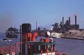 The fireboat Joseph Medill and 3 stacks of Youngstown S + T. - South Chicago.jpg